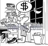 man praying for money
